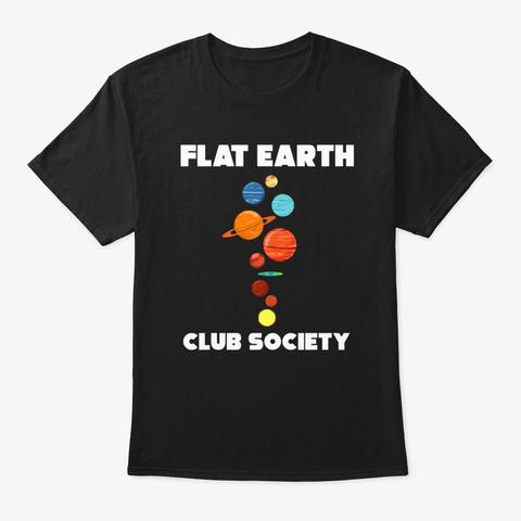 Flat Earth Resort And Club T Shirt Black T-Shirt Front