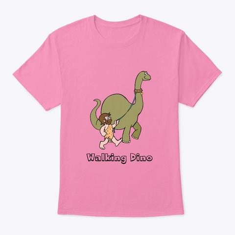 Walking Dino Teeshirt Pink T-Shirt Front