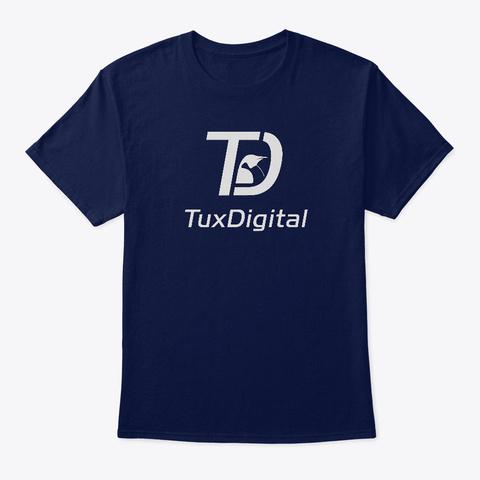 Tux Digital T Shirt Navy T-Shirt Front