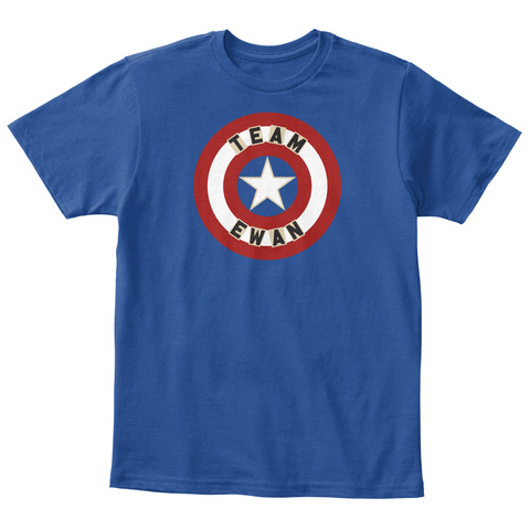 Team Ewan Deep Royal  T-Shirt Front