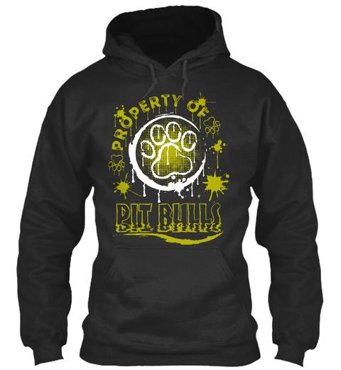 Pit Bull Lover Funny Gift Jet Black T-Shirt Front