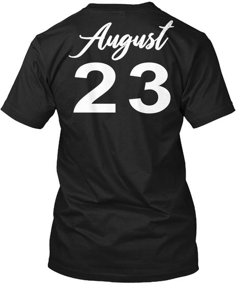 August 23   Virgo Black T-Shirt Back