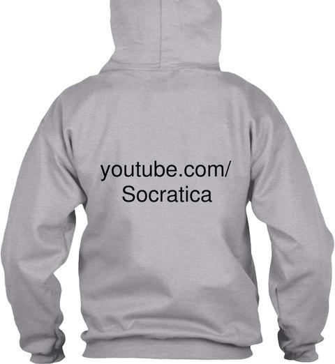 Youtube.Com/ Socratica Sport Grey T-Shirt Back