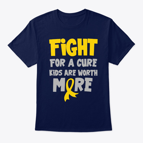 Fight For A Cure Kids A Worth More Child Navy T-Shirt Front