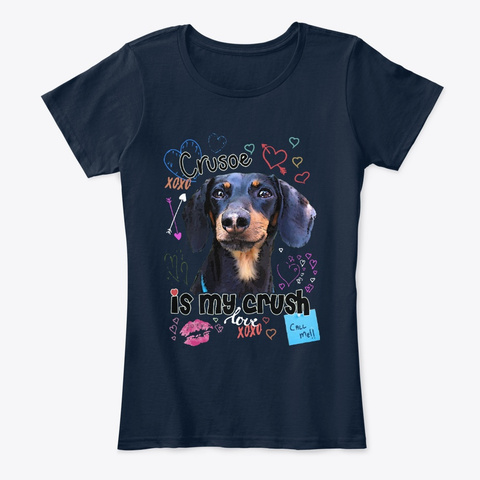 Crusoe Is My Crush New Navy T-Shirt Front