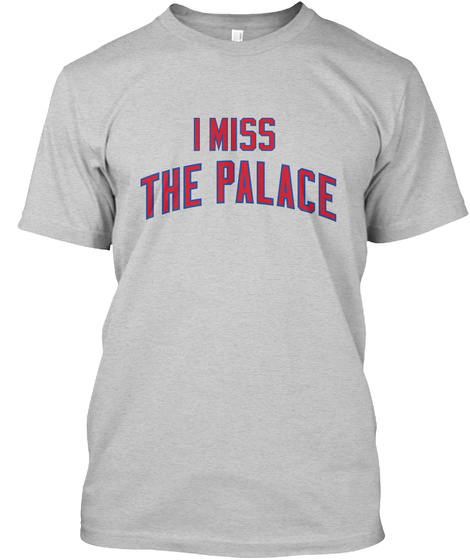 Naming Wrongs: Palace (Grey) Light Steel T-Shirt Front