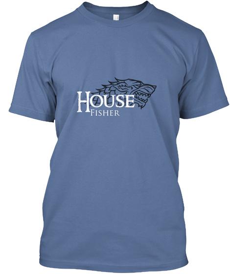 House Fisher Denim Blue T-Shirt Front