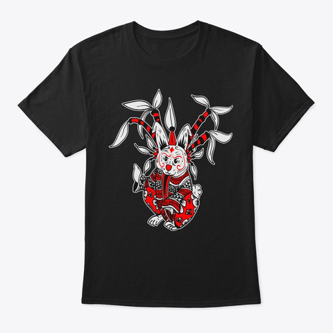 Rabbit Lunar New Year Chinese Zodiac Black T-Shirt Front