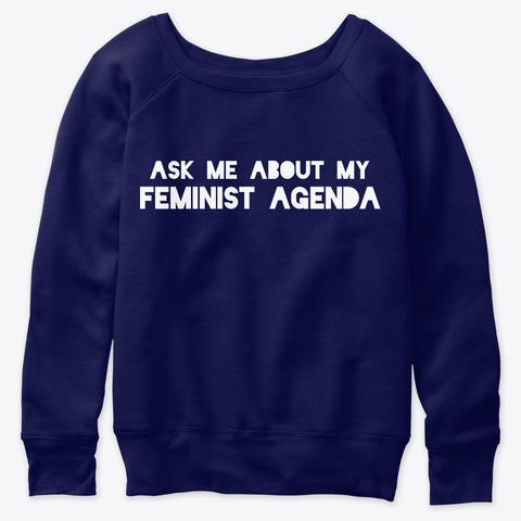 Feminist Agenda Navy  T-Shirt Front