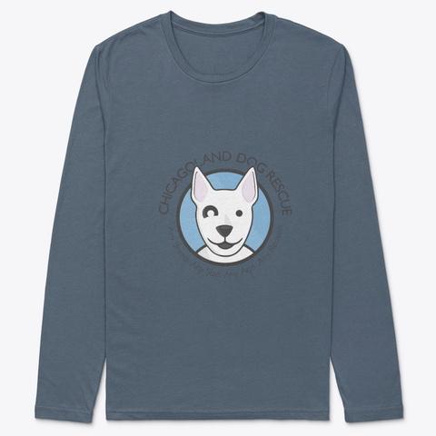 Cdr Logo Indigo T-Shirt Front