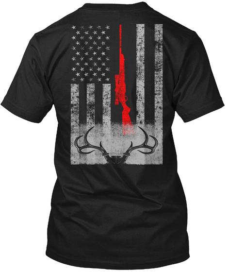 Limited Edition Deer Hunting Flag T-Shirt Back
