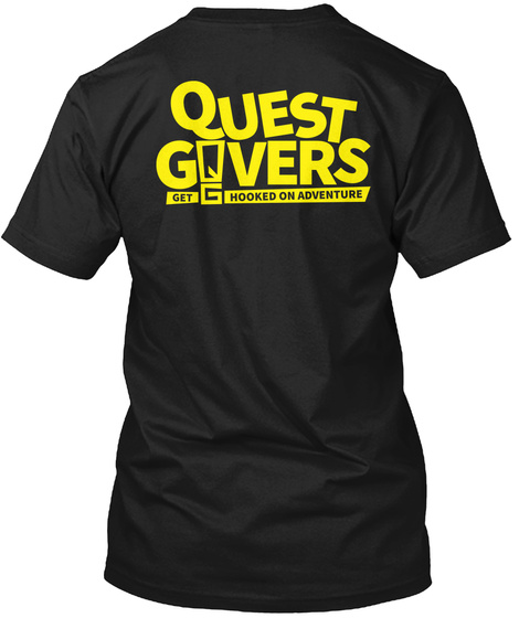 Quest Govers Get Ghooked On Adventure Black T-Shirt Back