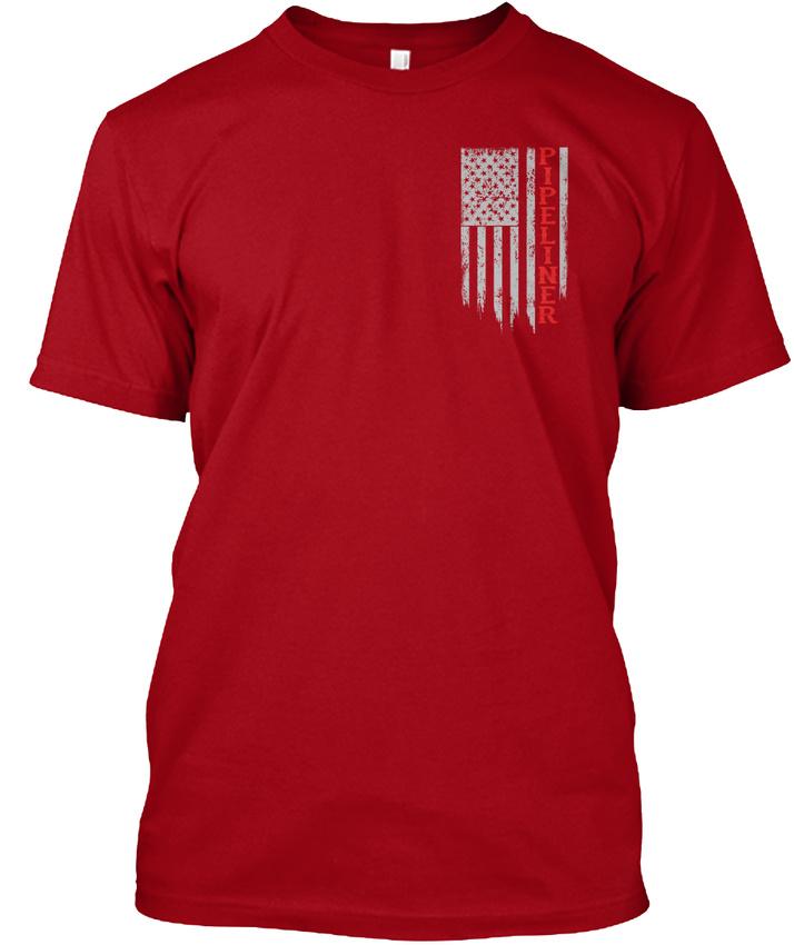 Pipeliner-Us-Flag-Hanes-Tagless-Tee-T-Shirt thumbnail 8