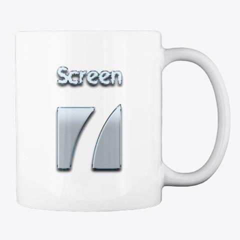 Screen 7 Mug (Silver Logo) White Mug Back