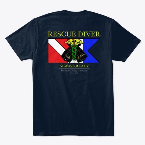 Pdc Rescue Shirt Men's 2 New Navy T-Shirt Back