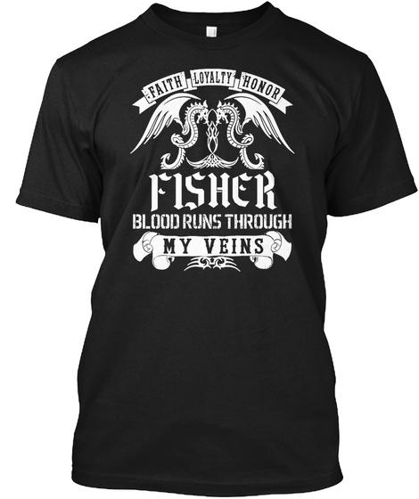 Fisher Blood Black áo T-Shirt Front