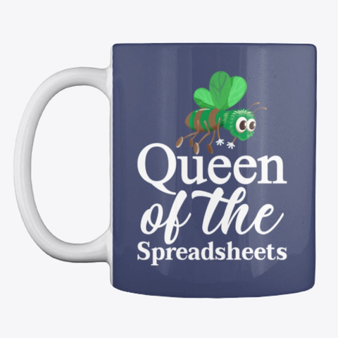 Queen Of The Spreadsheets Dark Navy T-Shirt Front
