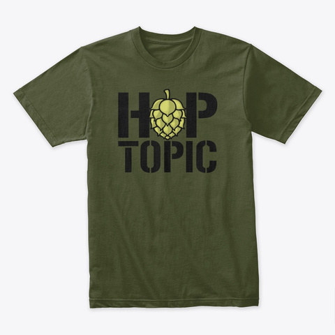 Hop Topic Apparel  Military Green T-Shirt Front