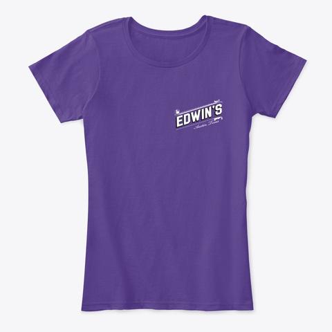Edwin's Pours Tee Purple T-Shirt Front
