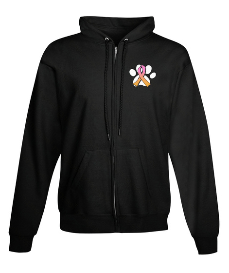 Pits Against Cancer Hoodie! Black Maglietta Front