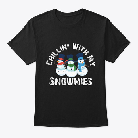 Christmas Festival Santa Gift For Black T-Shirt Front