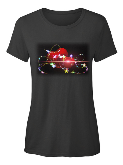 Love Herz Ellesson Black Damen T-Shirt Front