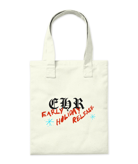 Ehr Early Holiday Release Natural Tote Bag Back