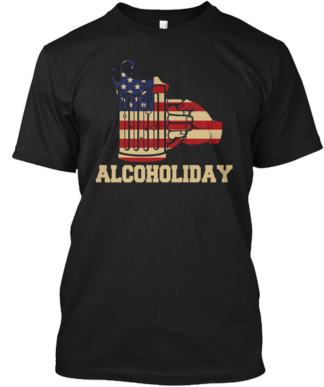 Alcoholiday Black T-Shirt Front