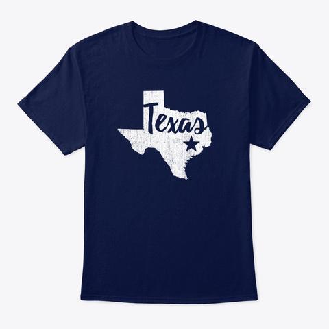 Texas Navy T-Shirt Front