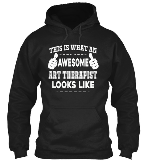 Art Therapist Black T-Shirt Front