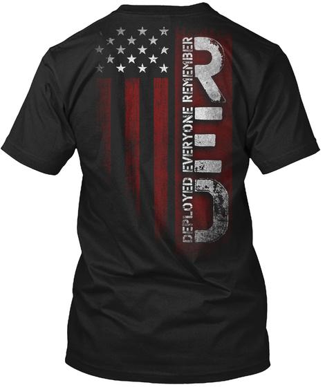 Red Deployed Everyone Remember Black T-Shirt Back