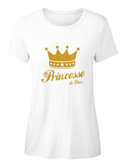 Princesse De Dieu White T-Shirt pour Femme Front