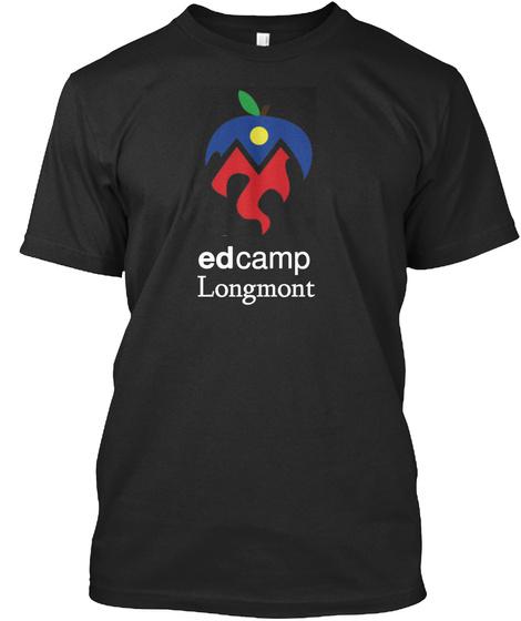 Ed      Camp  Longmont  Black T-Shirt Front