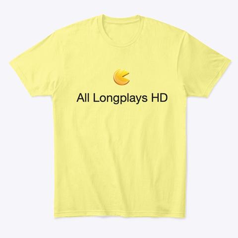 All Longplays Hd Shop Lemon Yellow  Camiseta Front