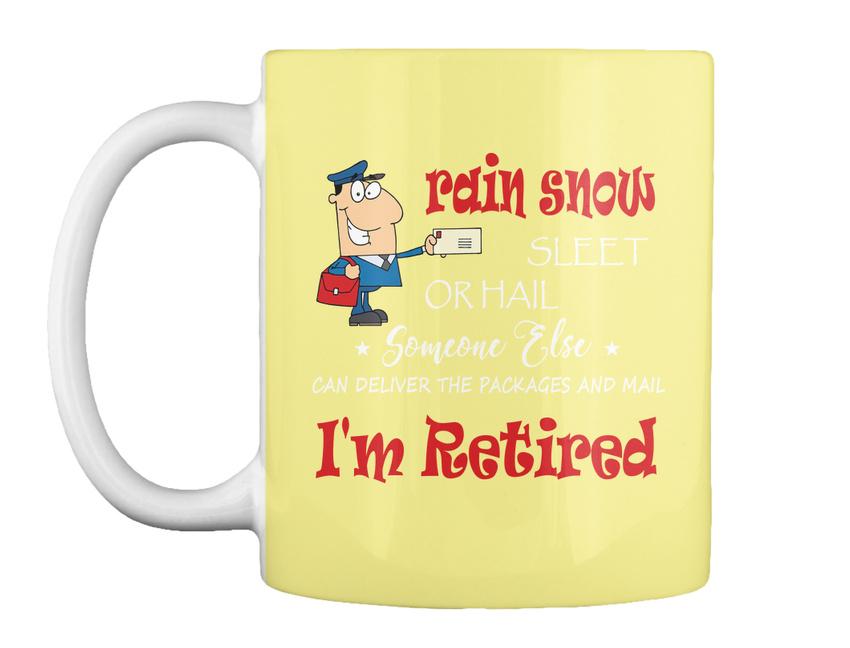 miniature 49 - Funny Retired Postal Worker Mailman Tee - Rain Suck Sleet Or Gift Coffee Mug