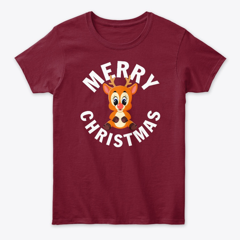 Baby Rudolph The Red Nose Reindeer Cardinal Red T-Shirt Front