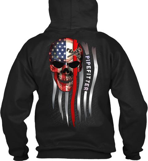 Proud Pipefitter Black T-Shirt Back