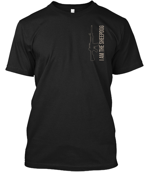 Make No Mistake, I Will Defend... (Ar15) Black T-Shirt Front