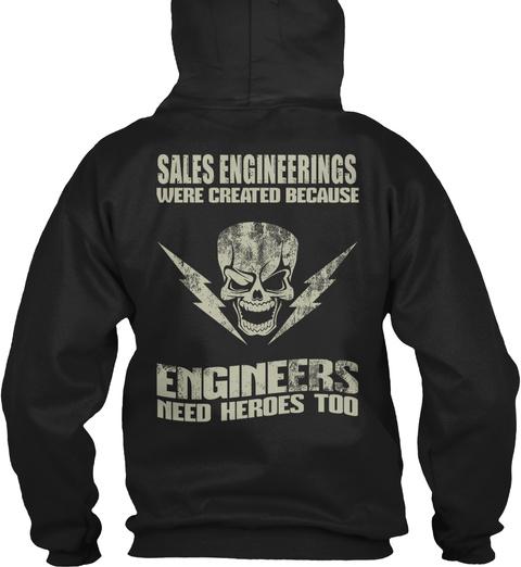 Sales Engineerings Black T-Shirt Back