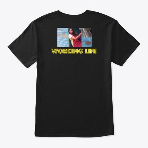 Working Life Black T-Shirt Back