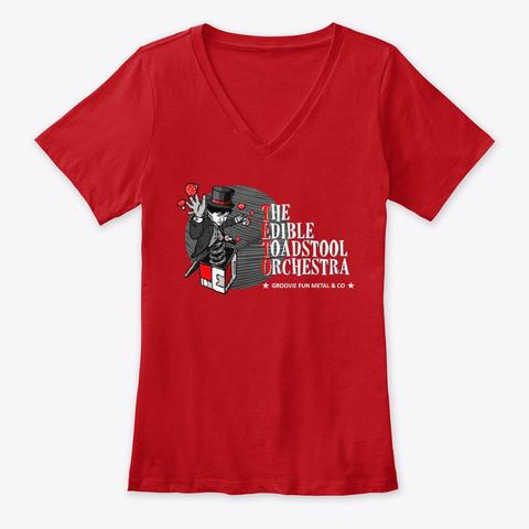 Teto Woman Shirt V (Red) Red T-Shirt Front