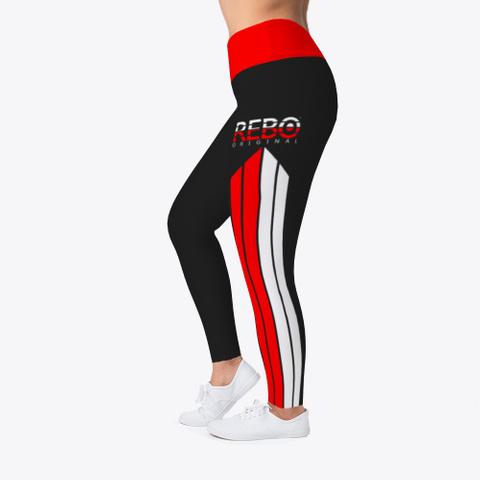 Rebo I Obe Red Leggings Black T-Shirt Left
