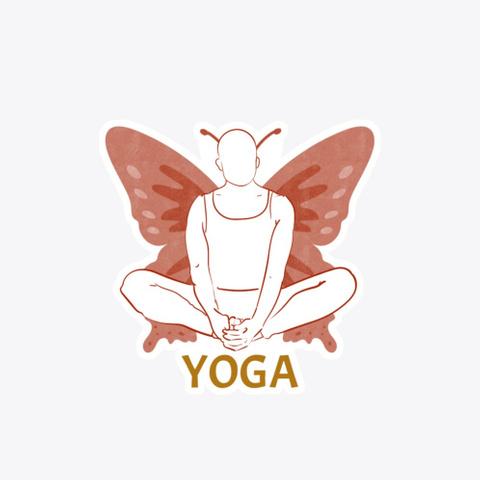 Yoga Butterfly Meditation Standard T-Shirt Front