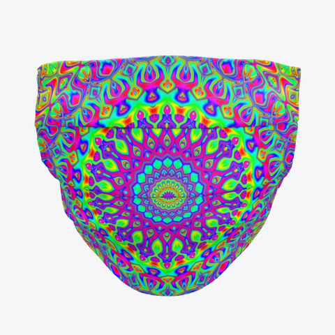 Groovy Colorful Neon Rainbow Mandala Standard T-Shirt Front