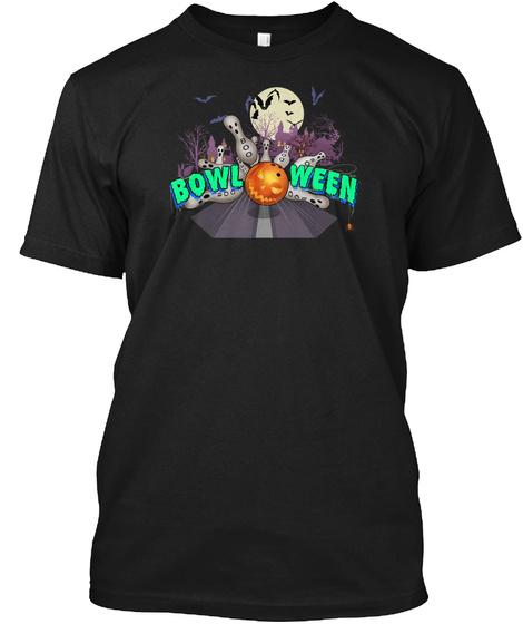 Bowling Halloween Mug   Bowloween  Black T-Shirt Front
