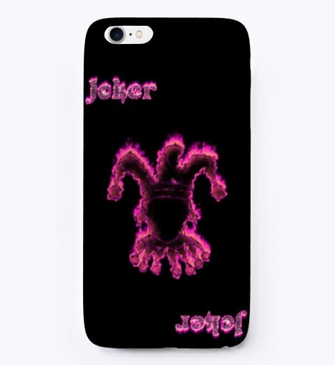 Joker, Pink Fire Black T-Shirt Front