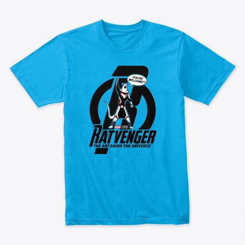 Ratvenger Turquoise T-Shirt Front