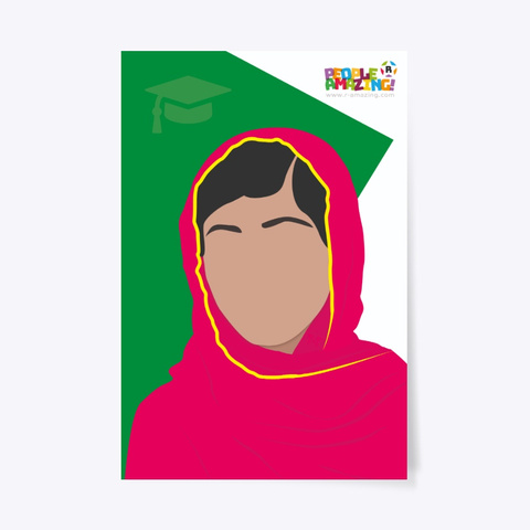 Malala Yousafzai – Poster Standard T-Shirt Front