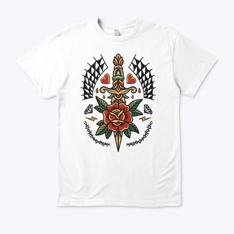 Tattoo Sword  White T-Shirt Front