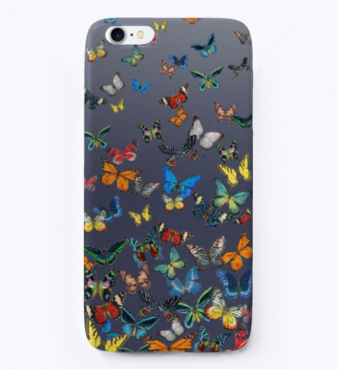 Butterfly Bounty!  Denim Blue Maglietta Front